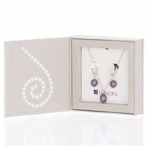 NEW Honora Pearls Necklace & Earrings Boxe…